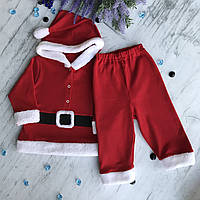 Костюм Санта на мальчика новогодний. Размер 80 см, 86 см, 92 см, 98 см, 104 см, 110 см
