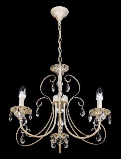 Люстра хрустальная свечи бежевая AR-004575 3 лампы