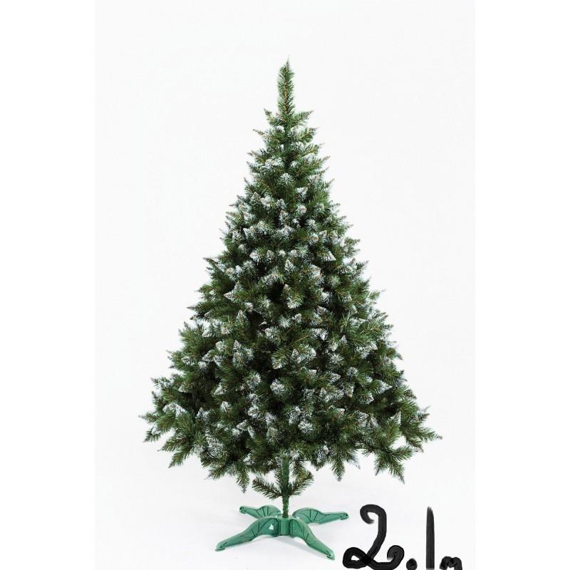 """Елка """"Рождественская"""" 2.1м с белыми кончиками"""