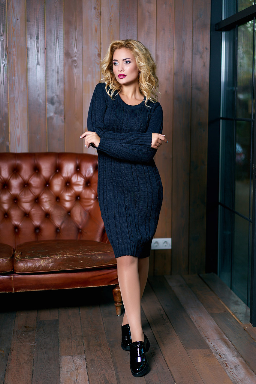 """Платье """"Кэти"""" (черный)(размер 44,46.48)"""