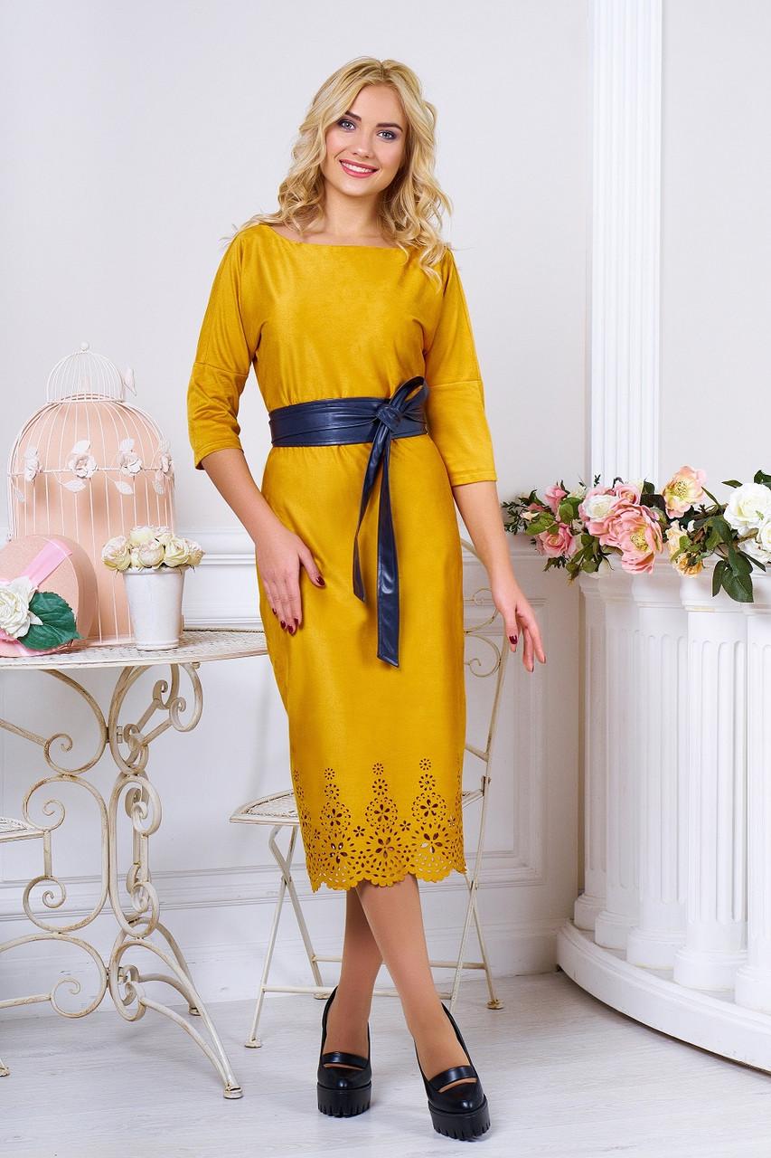 "Платье ""Марис"" (горчичный)(размер M,S)"