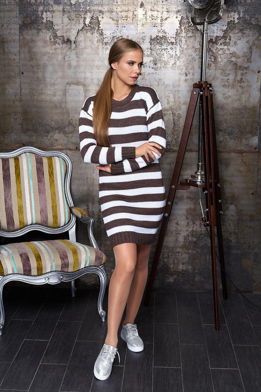 """Платье """"Лиза"""" (полоса коричневая)(размер 44,46,48)"""