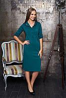 "Платье ""А-54"" (цвет зелёный)(размеры 44-54)"