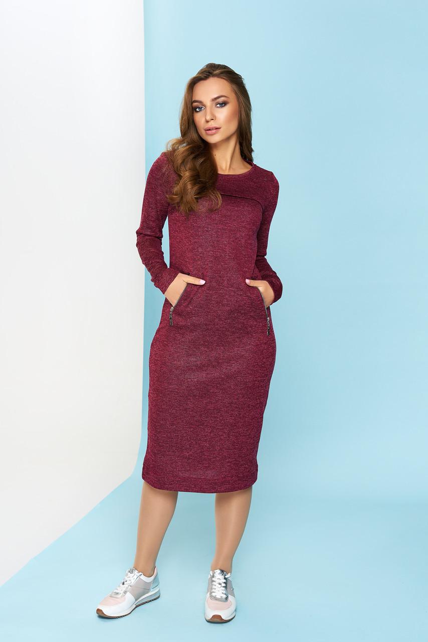 "Платье ""Амалия"" (бордо)(размер S,M,L,XL,2XL)"