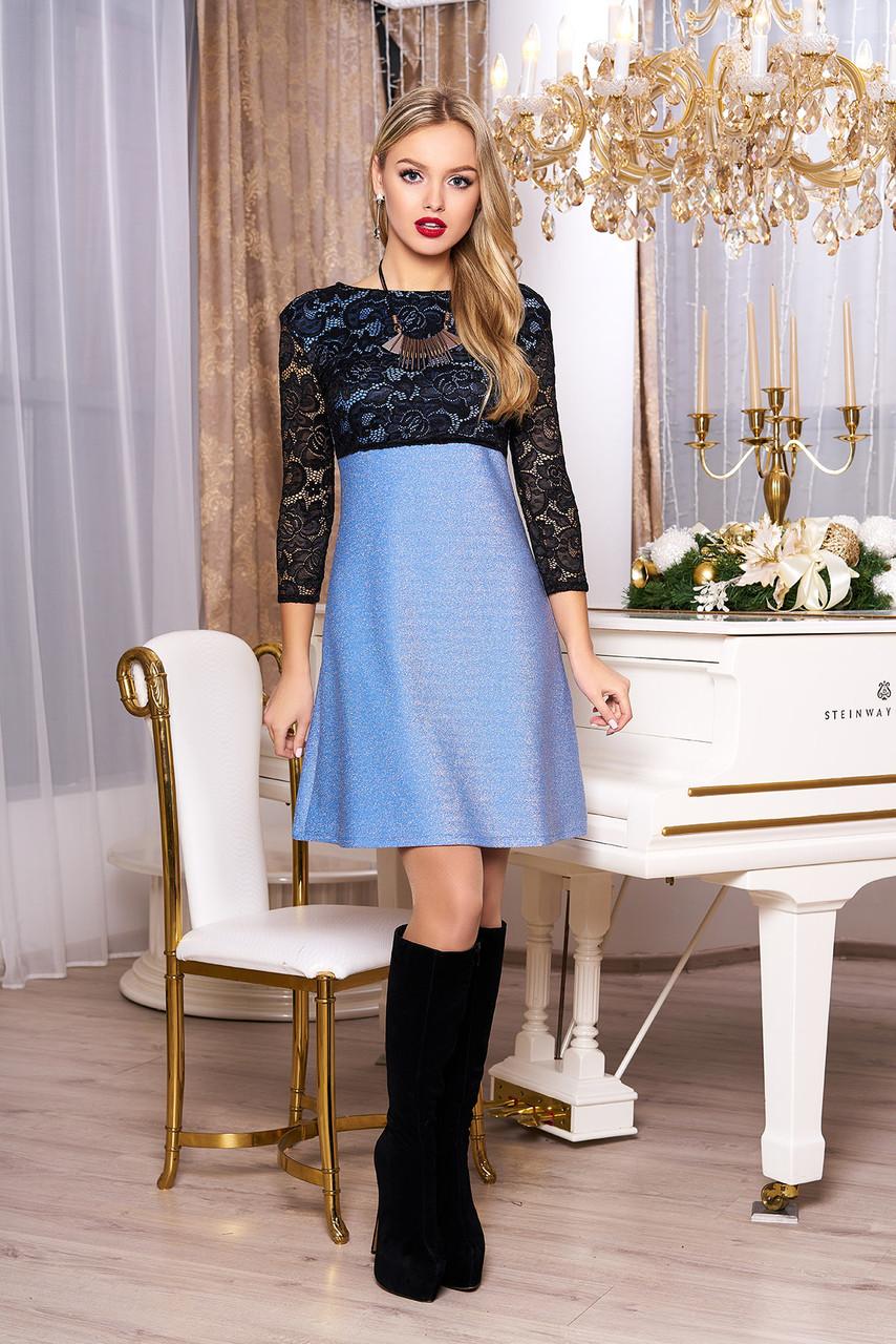 """Платье """"А-71"""" (голубой)(размеры 44-54)"""