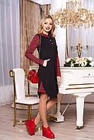 """Платье""""А-72"""" (черный)(размеры 44-54)"""