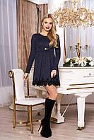 "Платье ""Лотос"" (т/синий)(размер S,M,L)"