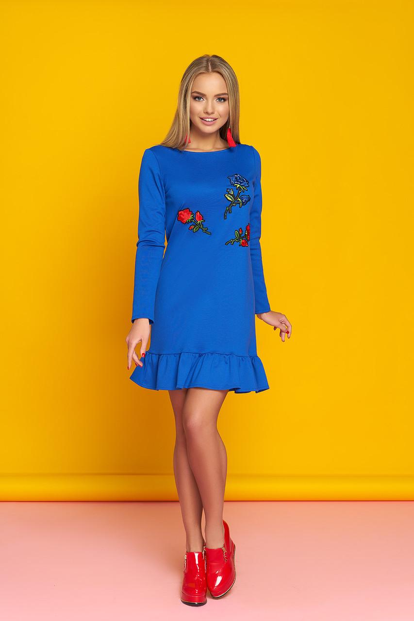 """Платье """"А-76"""" (голубой)(размер 44,46,48)"""