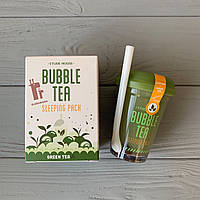 Ночная маска для лица Bubble Tea Sleeping Pack Green Tea от Etude House