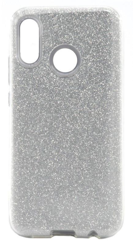 Чехол накладка Shine для Huawei P20 Lite С блестками TPU Серебристый