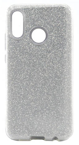 Чехол накладка Shine для Huawei P20 Lite С блестками TPU Серебристый, фото 2