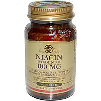 Витамин В3 (Vitamin B3), Solgar, 100 мкг, 100 таблеток