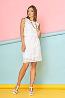"Платье ""А-90"" (белый цветок)(размеры 44-54)"