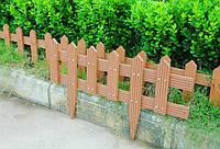 Садовые ограждения из древесно-полимерного композита