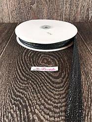 Репсова стрічка з люрексом, 50 ярдів, 2,5 см