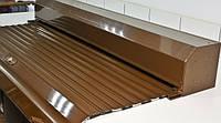 Защитные коричневые роллеты с электроприводом Ш:1700мм хВ:2300 для защиты проемов окон