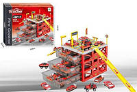 Игровой набор пожарка парковка в ящике с машинками 660-A155