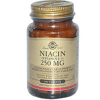 Витамин В3 (Vitamin B3), Solgar, 250 мкг, 100 таблеток