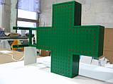 Аптечний хрест 500х500 світлодіодний двосторонній, фото 3