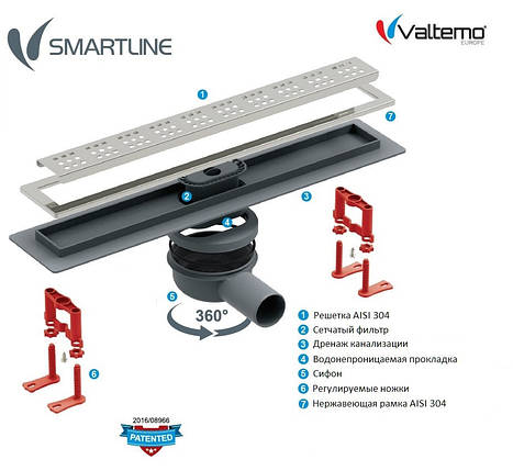 Трап для душу Valtemo Smartline Base 50, фото 2