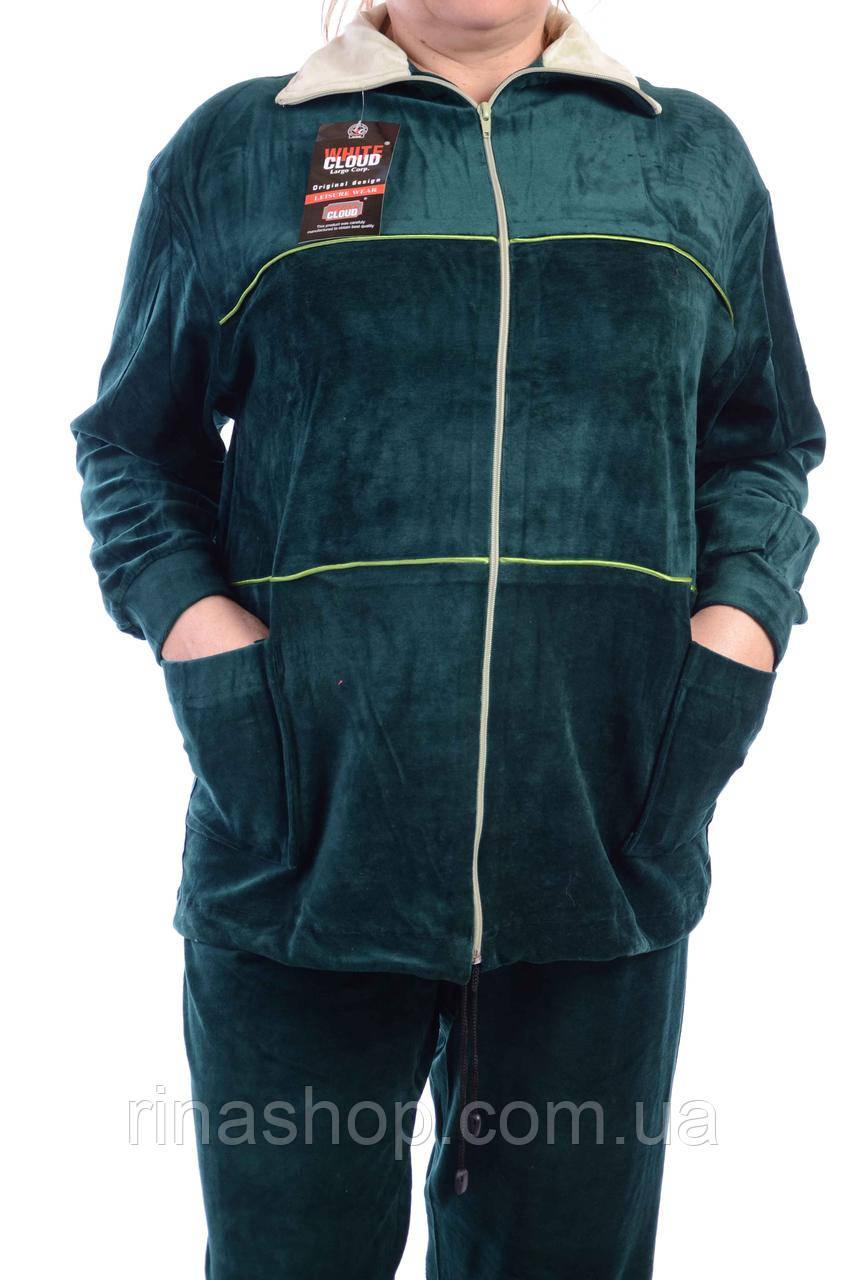 Велюровый женский спортивный костюм K117-11