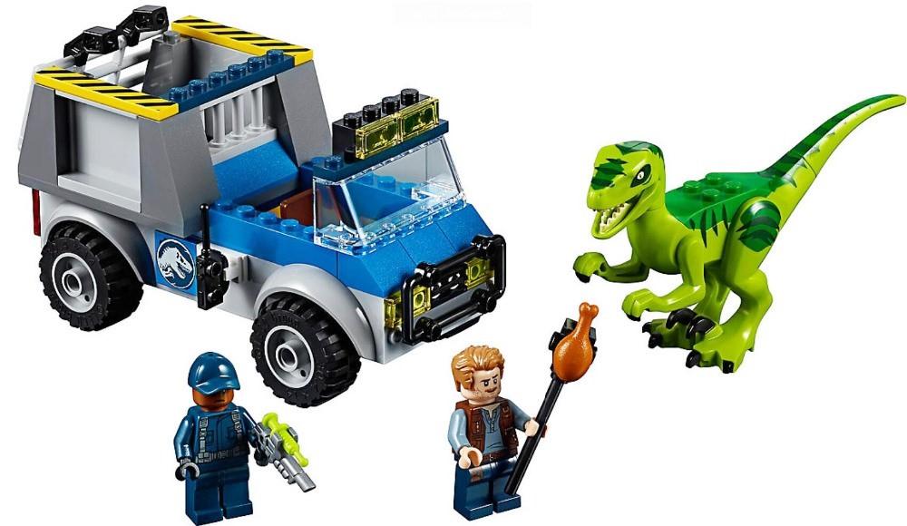 Конструктор Bela 10919 Dinosaurs Динозавры Грузовик спасателей для перевозки Раптора 102 дет