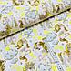 Ткань польская хлопковая, маленькие единороги с желтыми звездами на белом, фото 2