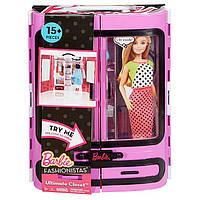 Игровой набор шкаф чемодан для Барби с одеждой Barbie Fashionistas Ultimate Closet