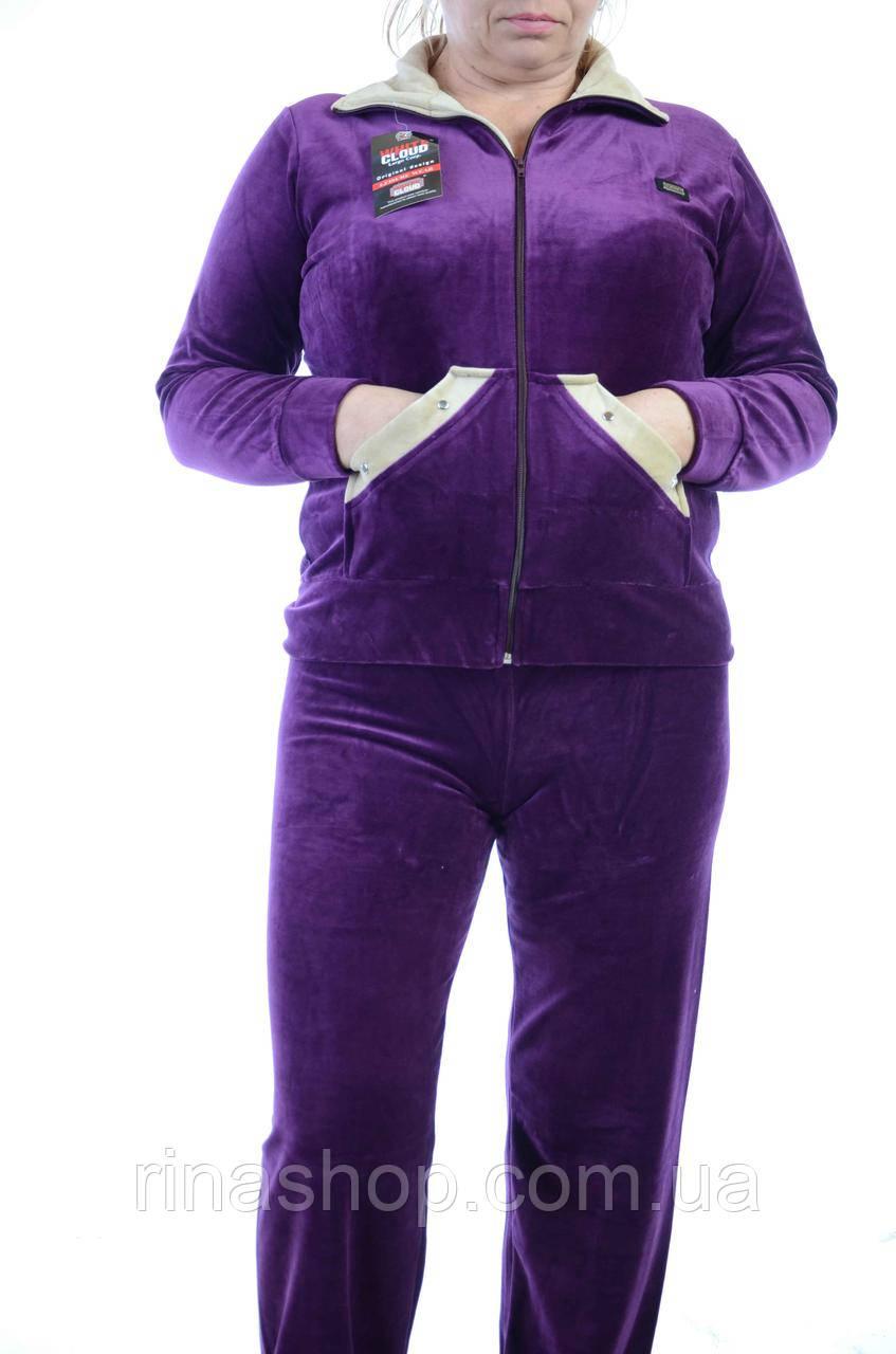 Велюровый женский спортивный костюм K116-4