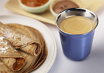 Двойной эспрессо с кофейными панкейками