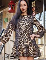 Женское короткое леопардовое платье (Шанна mrb)