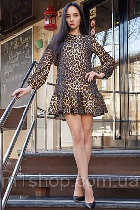 Женское короткое леопардовое платье (Шанна mrb), фото 2