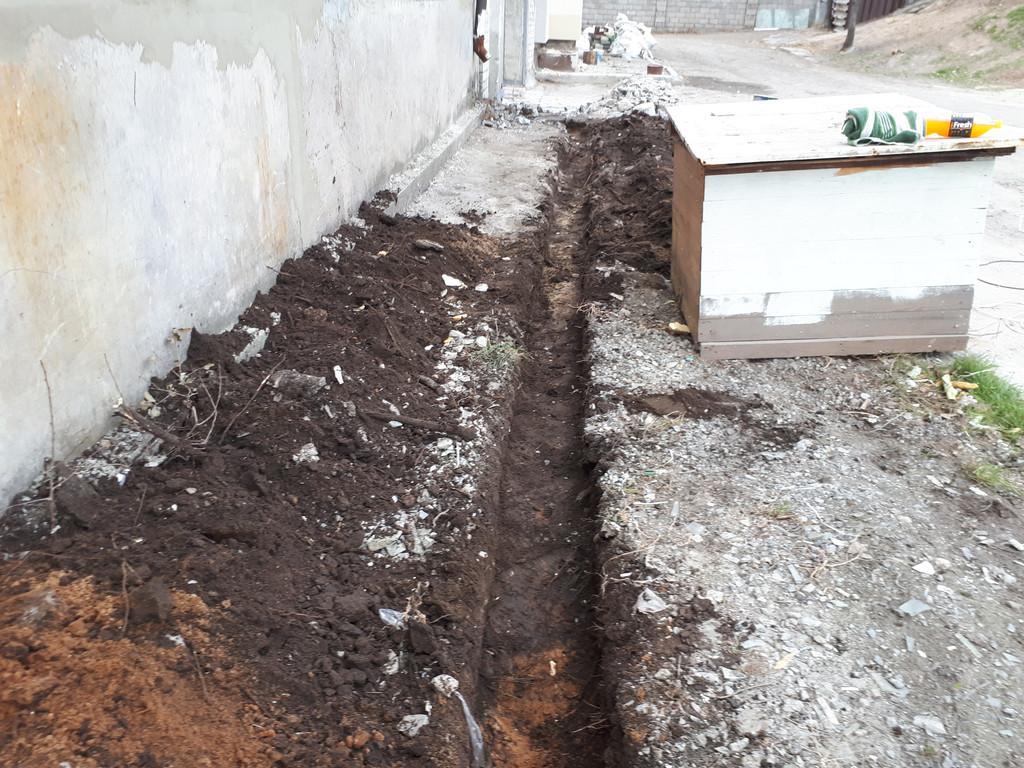 Общая длина - 50 пог.м. Ширина под лопату, глубина около 500 мм. Работа выполняется на промышленной базе.