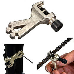 Выжимка цепи велосипеда DN TS-23240 со спицным ключем, компактная