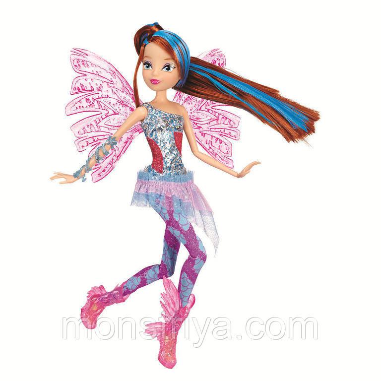 Шарнирная кукла Винкс Блум Sirenix Color-Change Hair из серии Делюкс