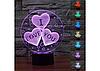 3D светильник 1105 ( I love you)