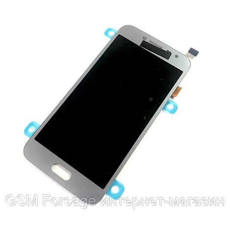 Дисплей Samsung Galaxy J2 Pro 2018 SM-J250F complete SuperAmoled Silver