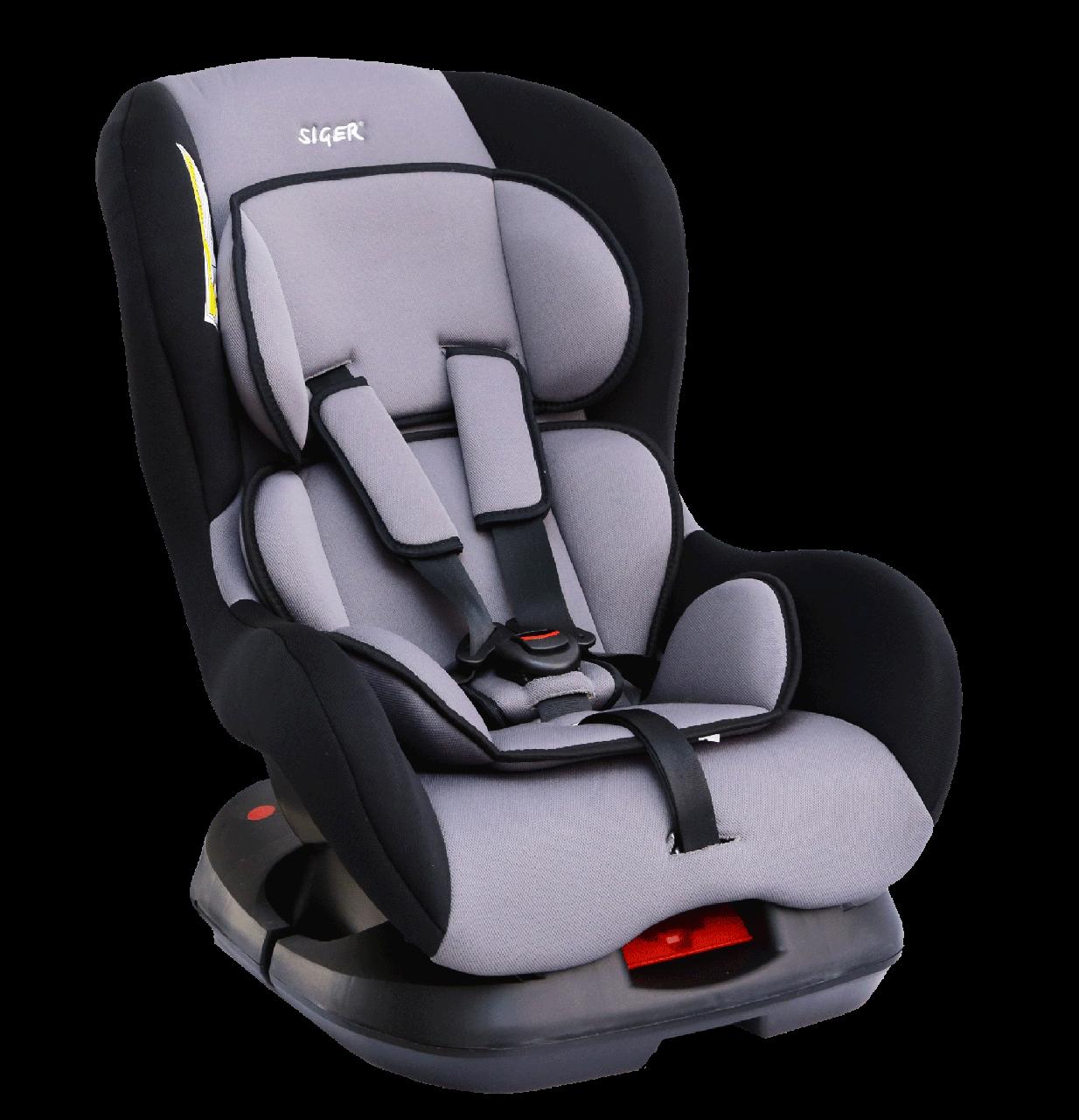 """Детское автомобильное кресло SIGER """"НАУТИЛУС"""" серый, 0-4 ЛЕТ, до 18 КГ, группа 0+/1"""