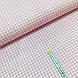 Ткань польская хлопковая, мелкая розовая клетка на белом, фото 2