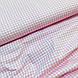 Ткань польская хлопковая, мелкая розовая клетка на белом, фото 4