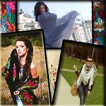 Жіночі хустки, палантини, косинки, шалі (Українська)