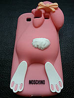 Розовый Samsung S3 I9300, S3 duos чехол Moschino, фото 1