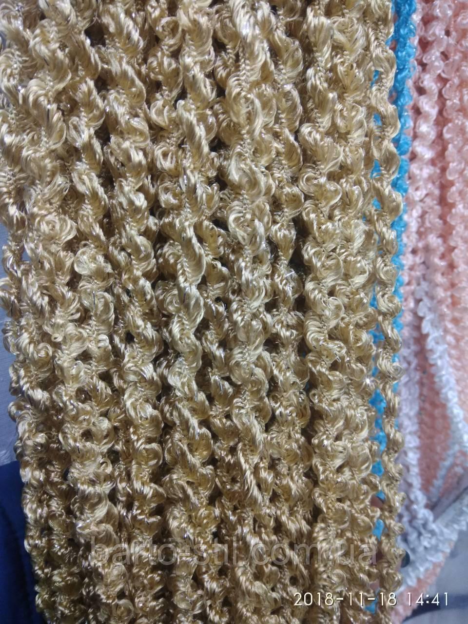 Спиральные шторы (кисея) с люрексом 300Х300