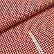 Ткань польская хлопковая, мелкая красная клетка на белом, фото 2