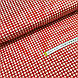 Ткань польская хлопковая, мелкая красная клетка на белом, фото 3