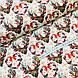 Ткань польская хлопковая, олени с серыми рождественскими сердечками, фото 3
