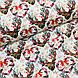 Ткань польская хлопковая, олени с серыми рождественскими сердечками, фото 4
