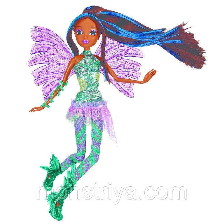 Шарнирная кукла Винкс Аиша Sirenix Color-Change Hair из серии Делюкс