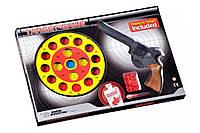 Пистолет EDISON Target Game 28см 8-зарядный с мишенью и пульками (485/22), фото 1