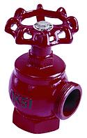 Вентиль пожарный Ду50мм чугун угловой